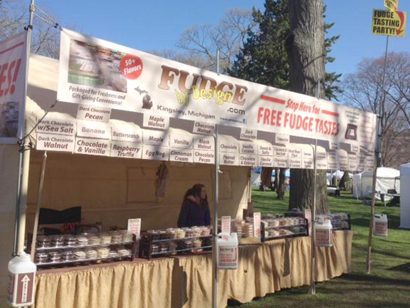 Fudge by Design in Holland, MI at the Tulip Time Festival